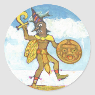 The fool colour - Amazing Mexico Button Classic Round Sticker
