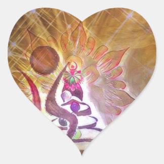The Fool Heart Sticker