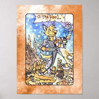 The Fool Tarot Deck Poster
