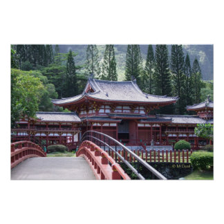 The Footbridge - Byodo-In Temple Poster