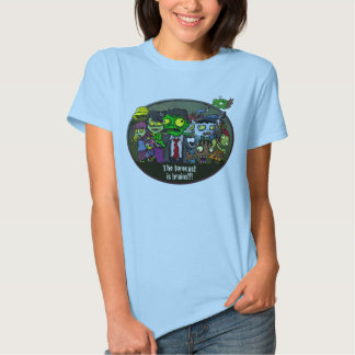 The forecast is brains!!! tee shirt