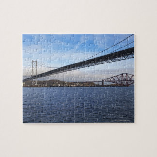 The foreground Forth Road Bridge is a suspension b Jigsaw Puzzle