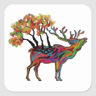 THE FOREST BRINGS SQUARE STICKER