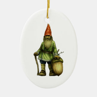 THE FOREST GNOME CERAMIC OVAL ORNAMENT
