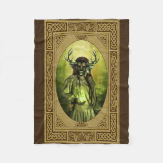 The forest king fleece blanket