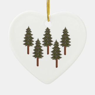 THE FOREST TRANQUILITY CERAMIC HEART ORNAMENT