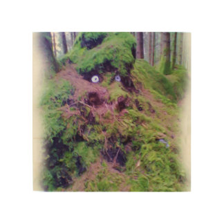 The Forest Troll Wood Print