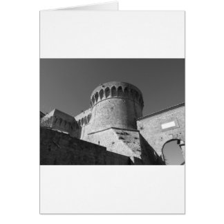 The Fortezza Medicea of Volterra . Tuscany, Italy Card