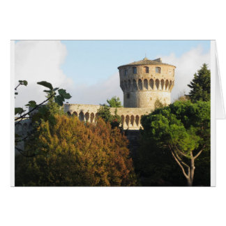 The Fortezza Medicea of Volterra, Tuscany, Italy Card