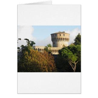 The Fortezza Medicea of Volterra, Tuscany, Italy Card