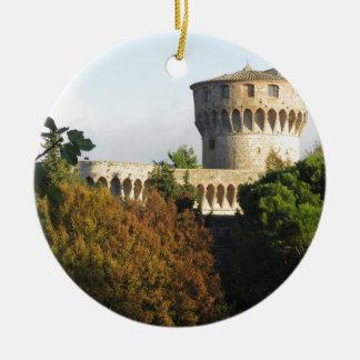 The Fortezza Medicea of Volterra, Tuscany, Italy Ceramic Ornament