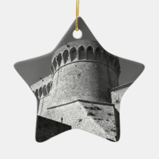 The Fortezza Medicea of Volterra . Tuscany, Italy Ceramic Star Ornament