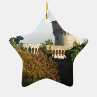 The Fortezza Medicea of Volterra, Tuscany, Italy Ceramic Star Ornament