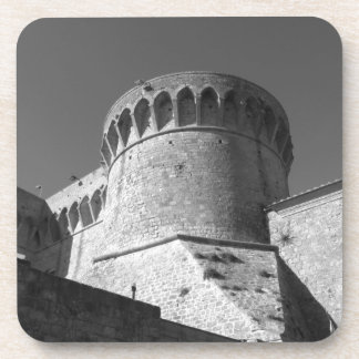 The Fortezza Medicea of Volterra . Tuscany, Italy Coaster