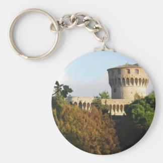 The Fortezza Medicea of Volterra, Tuscany, Italy Keychain