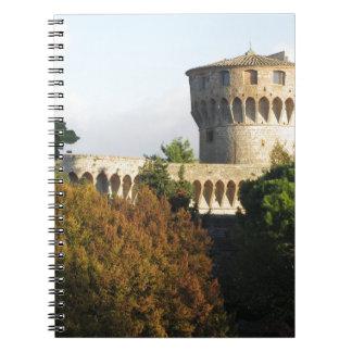 The Fortezza Medicea of Volterra, Tuscany, Italy Notebooks