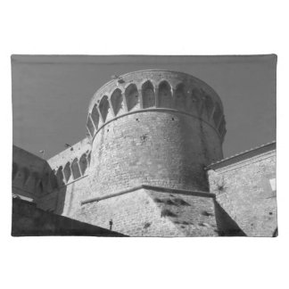 The Fortezza Medicea of Volterra . Tuscany, Italy Placemat