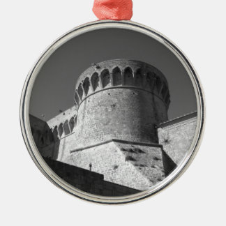 The Fortezza Medicea of Volterra . Tuscany, Italy Silver-Colored Round Ornament