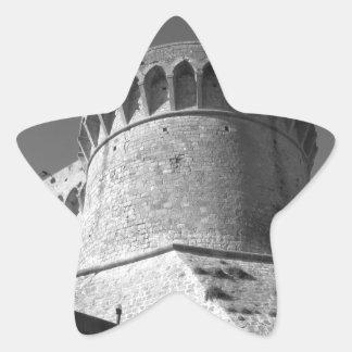 The Fortezza Medicea of Volterra . Tuscany, Italy Star Sticker