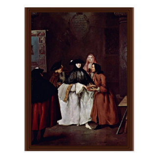 The Fortune Teller By Longhi Pietro (Best Quality) Postcard