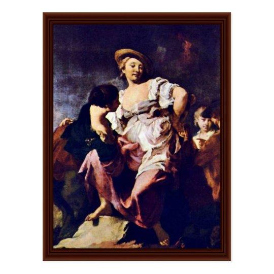 The Fortune Teller By Piazzetta Giovanni Battista Postcard