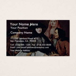 The Fortune Teller Detail By Longhi Pietro Business Card