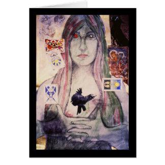 The Fortune Teller, orignial art by Brad Ashlock Card
