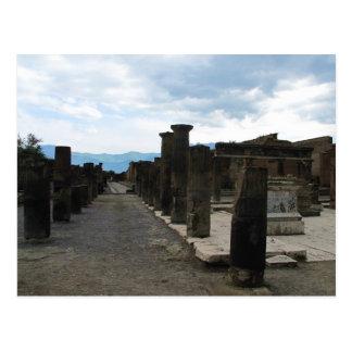 The FORUM OF POMPEII - Column fragments Postcard