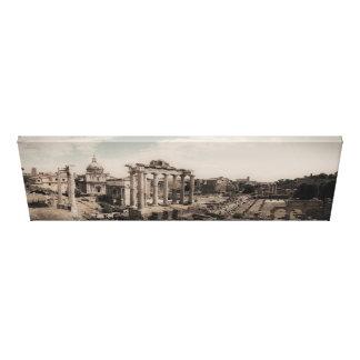 The Forum - Rome Italy - Panorama - Nostalgic Canvas Print