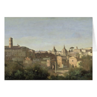 The Forum seen from the Farnese Gardens Card