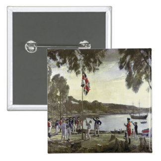 The Founding of Australia by Capt. Arthur 2 Inch Square Button