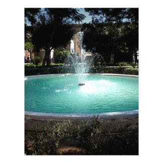The fountain letterhead