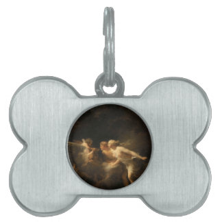 The Fountain of Love by Jean-Honore Fragonard Pet ID Tag