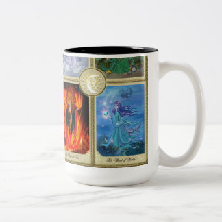 The Four Elements Painting Two-Tone Coffee Mug