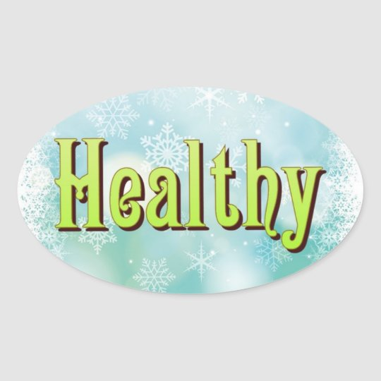 The four great Mantras: Happy Healthy Wise Wealthy Oval Sticker