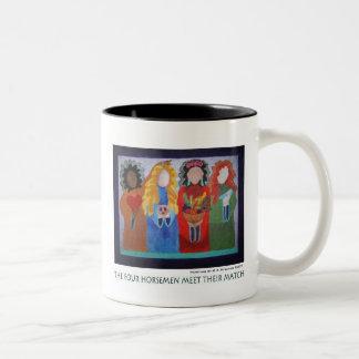 The Four Horsemen Meet Their Match Two-Tone Coffee Mug