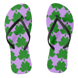 The Four-Leaf Clover For Luck Flip Flops