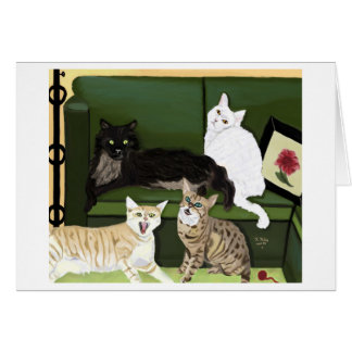 The Four Little Mountain Lions notecard