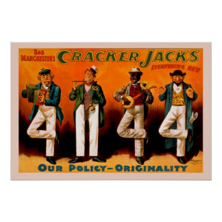 The Four Men Jacks Vintage Poster