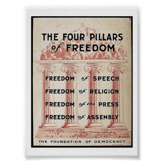 The Four Pillars Of Freedom Poster