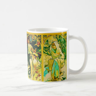 The Four Seasons ~ Alphonse Mucha Coffee Mug