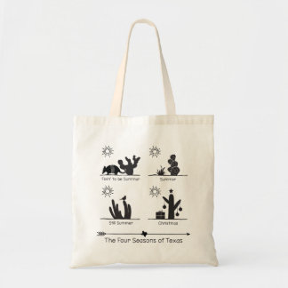 The Four Seasons of Texas - Black - Tote Bag