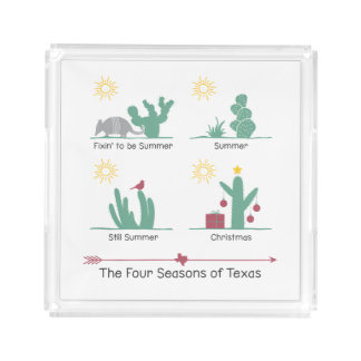 The Four Seasons of Texas Tray or Coaster