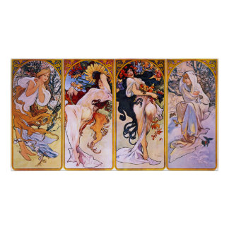 The Four Seasons Poster by  Mucha