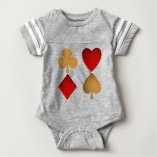 The four suits baby bodysuit