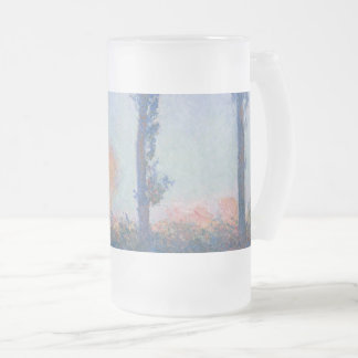 The Four Trees by Claude Monet Frosted Glass Beer Mug