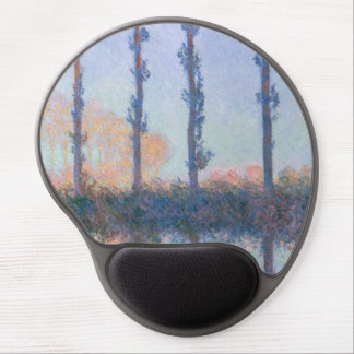The Four Trees by Claude Monet Gel Mouse Pad