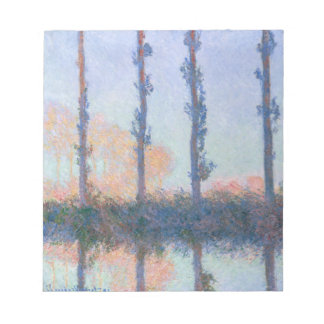 The Four Trees by Claude Monet Notepad