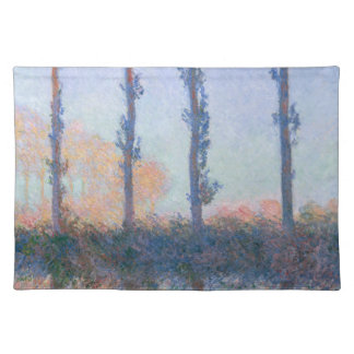 The Four Trees by Claude Monet Placemat