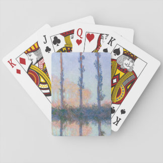 The Four Trees by Claude Monet Playing Cards